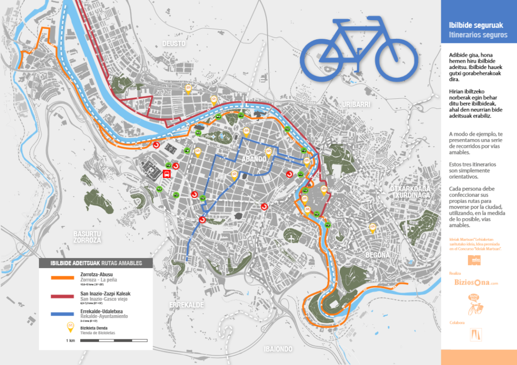 Mapa de  Calles Amables / Kale Adeitsuen Mapa