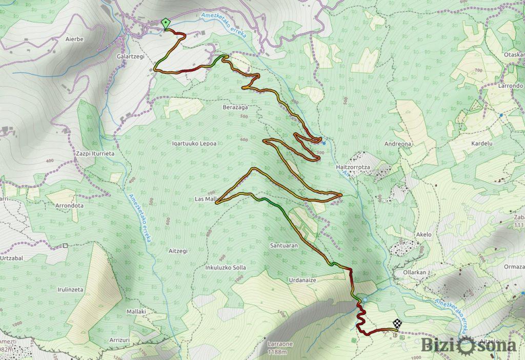 Mapa Ariñate